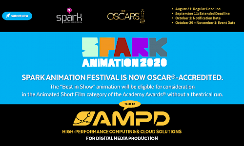 AMPD Sponsors 12th annual SPARK ANIMATION FESTIVAL Which is BC's Only Oscar®-accredited Festival